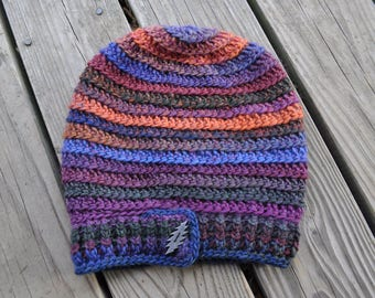 Brokedown Palace Grateful Dead Spiral Slouchy Hat // 100% Wool Handmade Dreadlock Tam