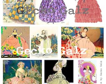 Beautiful Belles Digital Collage Sheet