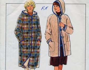 Vintage sewing pattern - Style Ladies hooded duffle coat with toggles - size 12