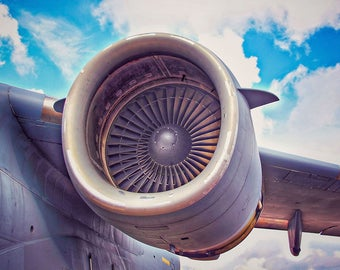 jet engine print airplane photo plane print airplane print boys room decor
