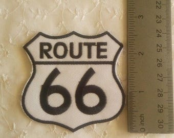 Route 66 Patch Embroidery