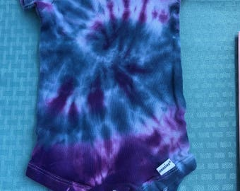 Baby tie dye onsie size 12 months purple blue