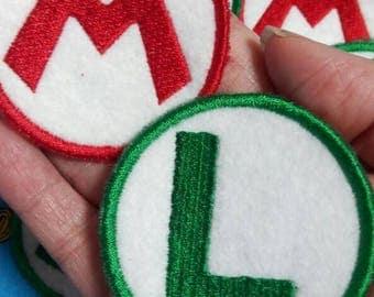 M & L:  Mario and Luigi Patches