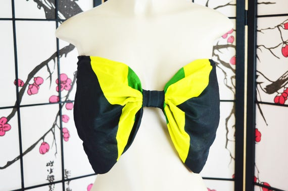 Custom Jamaican Flag Bandeau Bow Top *Other Countries Produced by Request
