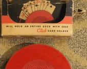 Vintage Click Card Inc. Playing Card Holder w/ Original Packaging