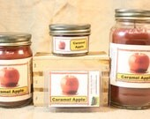 Caramel Apple Scented Candle, Caramel Apple Scented Wax Tarts, 26 oz, 12 oz, 4 oz Jar Candles or 3.5 Clam Shell Wax Melts