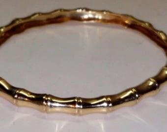 Tiffany & Co. 14K Gold Bamboo Pattern Bangle Bracelet