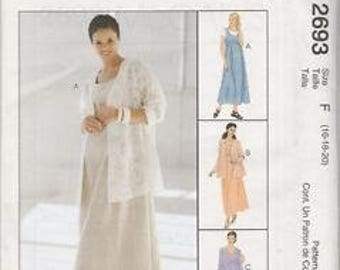 McCall's 2693 Size 6-8-10 or 16-18-20 Maternity Jacket, Dress or Jumper Sewing Pattern 2000 Uncut