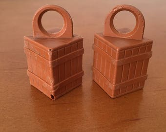 Vintage Fisher-Price Little People Crates with Hooks Offshore Cargo Base