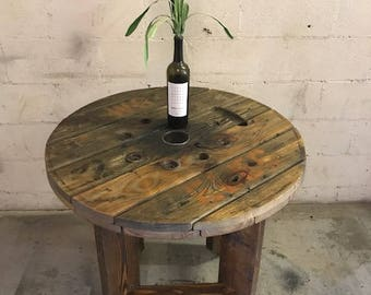Rustic Indoor/Outdoor Spool Tables  Made From Electrical Spool/spindles