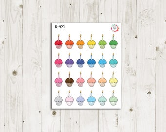 Birthday Cupcakes Planner Stickers - ECLP Stickers