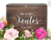 Wedding Card Box Ideas | Wedding Card box with Slot | Wood Wedding Card Box with Lid | Wedding Money Box | Wedding Card Box - WS-261