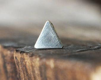 Silver Triangle Nose Stud - You Choose the Gauge and the Bend - Artisan Body Jewelry, Nickel Free