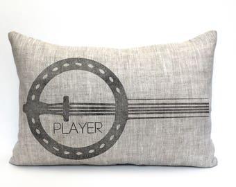 "banjo pillow, music lover gift, banjo player gift, musical gift, music teacher gift, christmas gift  - ""The Banjo Player"""