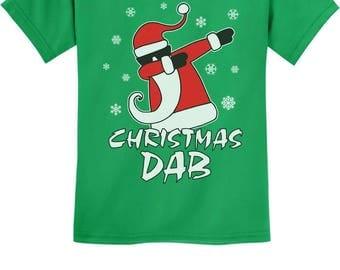 Dabbing Santa Christmas Dab Funny Xmas Youth Kids T-Shirt