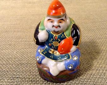 Vintage Porcelain Kutani Figurine - Ebisu God of Prosperity and Fishermen