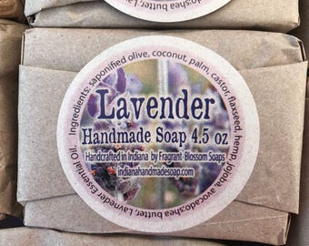 Lavender Handmade Soap 4.5 oz ~ naturally scented