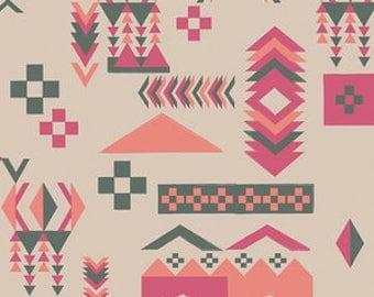 Baby Bedding Crib Bedding - Tribal, Arrow, Peach, Hot Pink, Gray - Baby Blanket, Crib Sheet, Crib Skirt, Changing Pad Cover, Boppy Cover