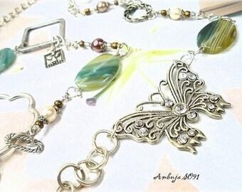 Long green designer agate unique AMBUJA SO91