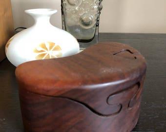 Vintage Mid Century Danish Modern Wood Puzzle Box