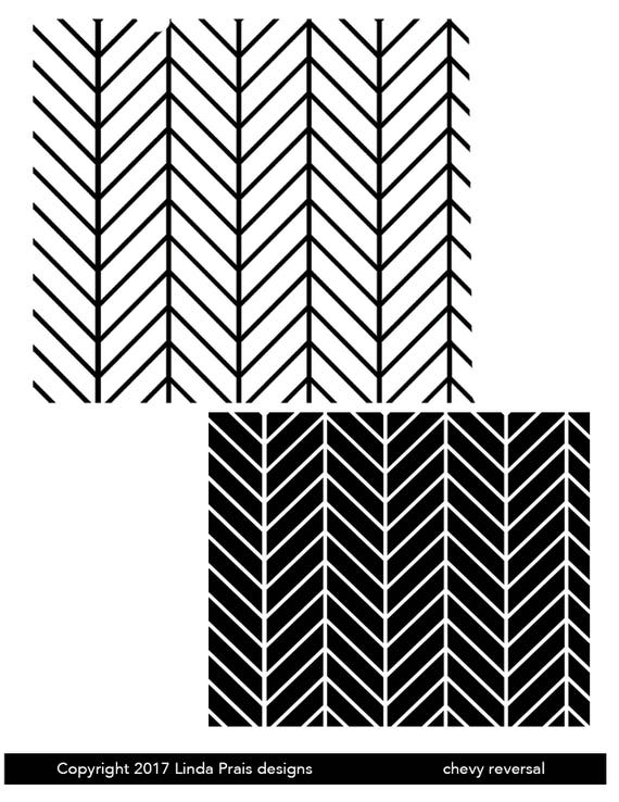 Silkscreen, Chevy reversal these chevrons in the negative and positive is perfect for jewelry and silkscreening on polymer clay