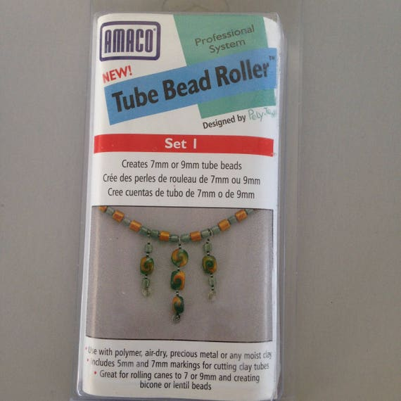 Amaco Bead Tube Bead Roller choose from set 1 or 2 to make perfect tube beads every time.
