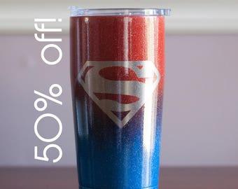 Sample Sale!  Superman Double Wall Travel Coffee Mug