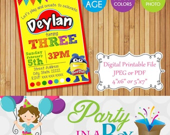 Playdoh Invitation DIY Printable Digital File