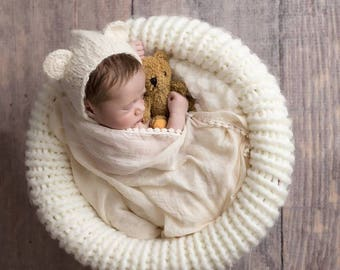 Newborn props - Newborn set – Baby props – Newborn boy – Photo props – Baby boy set – Newborn hat – Newborn shorts – Baby boy props - Cream