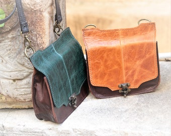 Small leather bag for sellphone