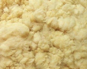 Crystal's 4.2 pound fine wool Corriedale x Australian Bond raw fleece