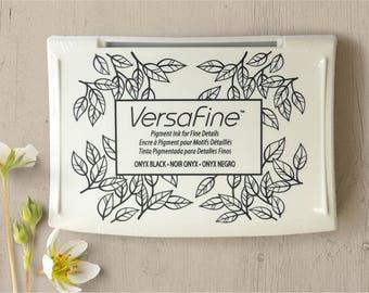 Versafine Onyx Black Ink Pad, Versafine Black Stamp Pad, Rubber Stamp Pad, Rubber Stamp Ink, Pigment Ink Pad, Tsukeneko Ink