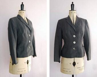 Vintage 1950s John Collier grey wool fitted jacket - 50s jacket - Tailored jacket - 1950s blazer - Wool jacket - 50s new look suit jacket