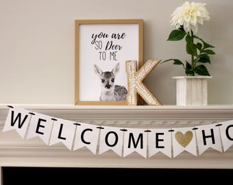 welcome home banner - homecoming banner - military welcome home banner - baby homecoming banner - Welcome Home