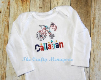 Baby Patriotic Outfit, Baby Boy 4th of July Outfit, Baby Boy Summer Outfit, Personalized Boy Bodysuit, Optional Shorts