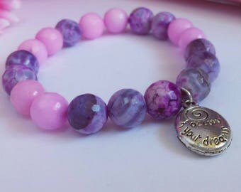 Follow Your Dreams Pink and Purple Gemstone
