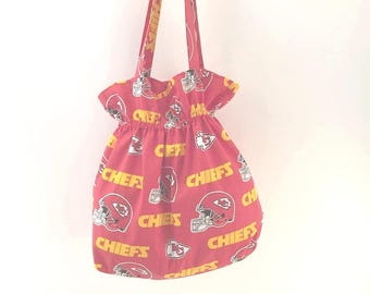 Kansas City Chiefs, Kansas City Fabric, KC Tote Bag, Red Tote, Chiefs Fan Gift, Chiefs purse, Kansas City bag, Chiefs Tote, KC Chiefs Tote