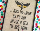 Silence of the Lambs Lotion Line 8 x 10 Film Movie Cross Stitch Pattern Download Intermediate