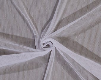 White English Netting Mesh Polyester Net Fabric By the Yard (WHITE-2237V-5N) D179.05