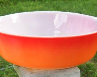 Anchor Hocking Fire King # 437 Casserole Dish 1 1/2 quart in Sunrise Orange