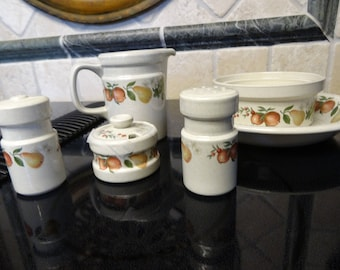 Wedgwood Quince pieces-salt,pepper,creamer,individual casserole,salt cellar or mustard jar, and coupe soup bowl