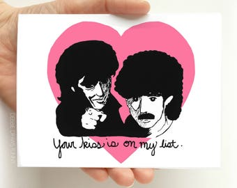 Funny Anniversary Card - Kiss Is On My List, Card for Boyfriend, Card for Girlfriend, Card for Husband, Card for Wife, Valentine Cards Funny