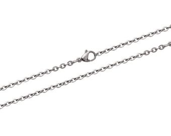 Steel carabiner width 2.4 mm chain necklace chain