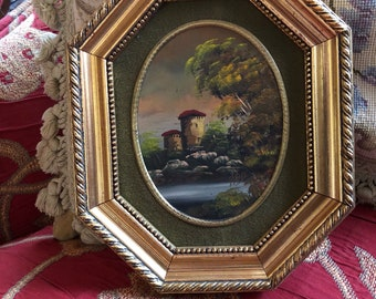 Italian Florentine landscape Country  Oil Painting