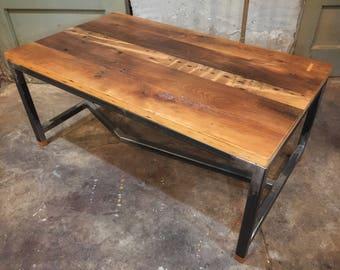 Steel + Reclaimed Wood Coffee Table