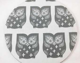 Captivating Grey Owls Mouse Pad / Computer / Office Decor / Coworker Gift / Home Decor /