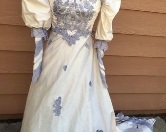 Dyed victorian style wedding dress