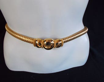 Vintage DAY-LOR Stretchable Gold Tone Belt