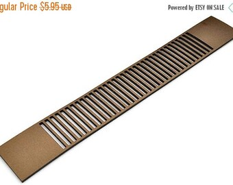 """10% OFF 30MM Cut-Out Leather Strap - 8""""/20Cm - Antique Gold - High Quality Leather Qty. 1"""