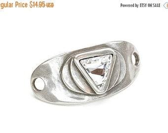 30% OFF Swarovski Crystal Bracelet Cuff Finding - Crystal - Antique Silver - Zamak - Qty. 1